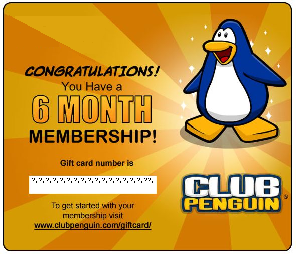 The easiest and most fun way to get a free Club Penguin membership! You can play games, earn coins, and buy a Club Penguin membership code from our store.
